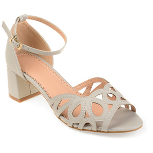 Vintage Ankle Strap Open-toe Faux Leather Heels