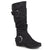 Womens Extra Wide Calf Mid-calf Slouch Riding Boots