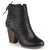 Womens High Heel Corset Lace Chunky Heel Ankle Boots