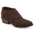 Womens Cross Over Faux Suede Booties