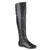 Womens Buckle Tall Round Toe Riding Boots