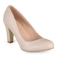 Womens Chunky Heel Matte Finish Pumps