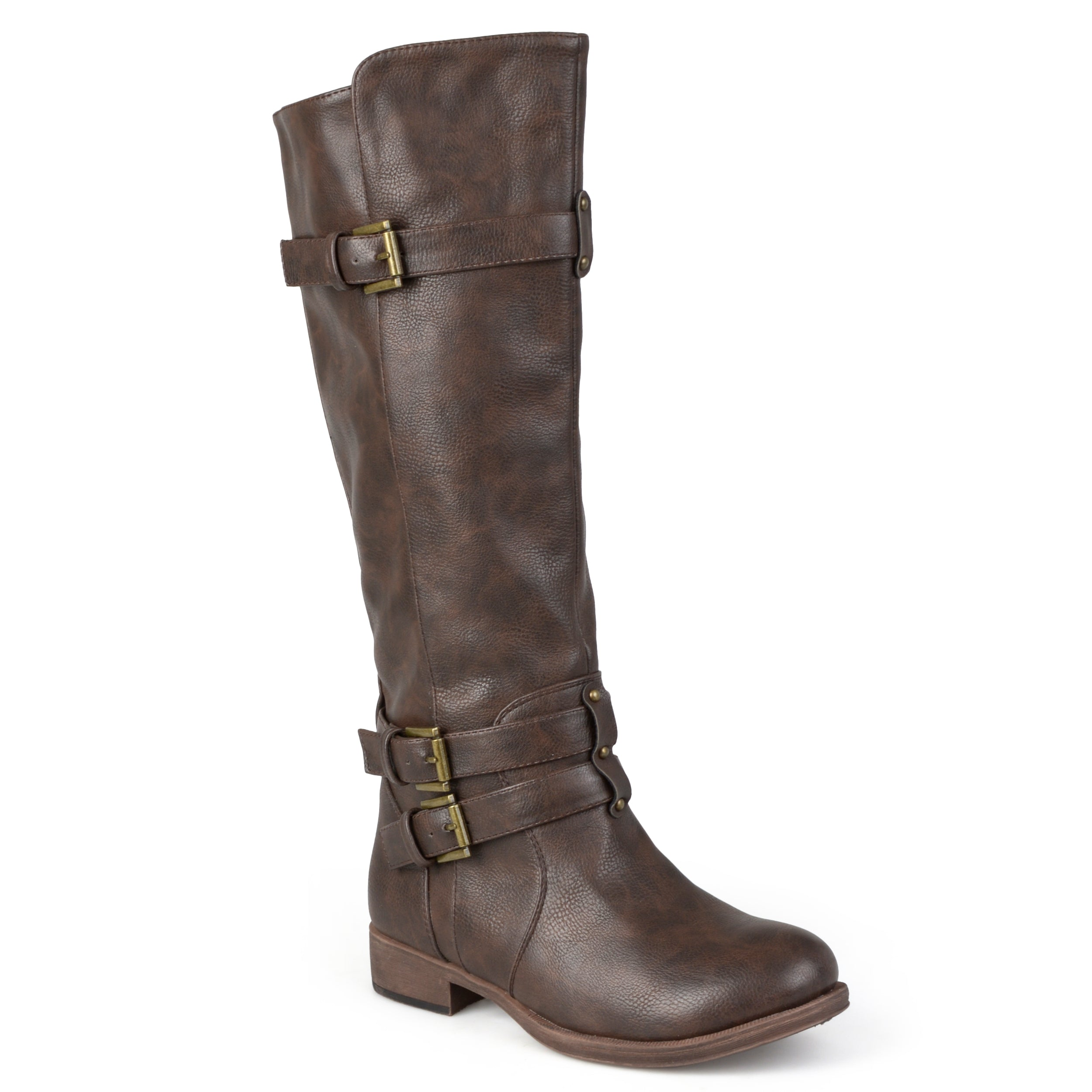 e391dba05 Brinley Co. Womens Knee-High Buckle Riding Boot