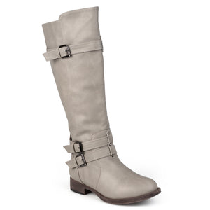 Brinley Co. Womens Knee-High Buckle Riding Boot