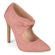 Womens Faux Suede Pointed Toe Cut-out Heels