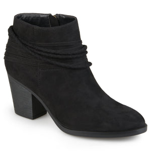 Womens High Heeled Strappy Chunky Heel Ankle Booties