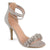 Womens Faux Suede Flower Ankle Strap High Heels
