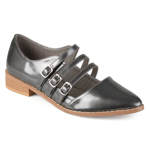 Womens Buckle Pointed Toe Patent Shoes