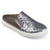 Womens Glitter Faux Leather Slide Sneakers