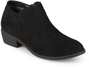 Womens Heeled Faux Suede Booties