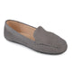 Womens Comfort Sole Faux Nubuck Laser Cut Loafers