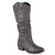 Womens Faux Leather Slouch Riding Boots