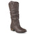 Womens Wide Calf Faux Leather Slouch Riding Boots