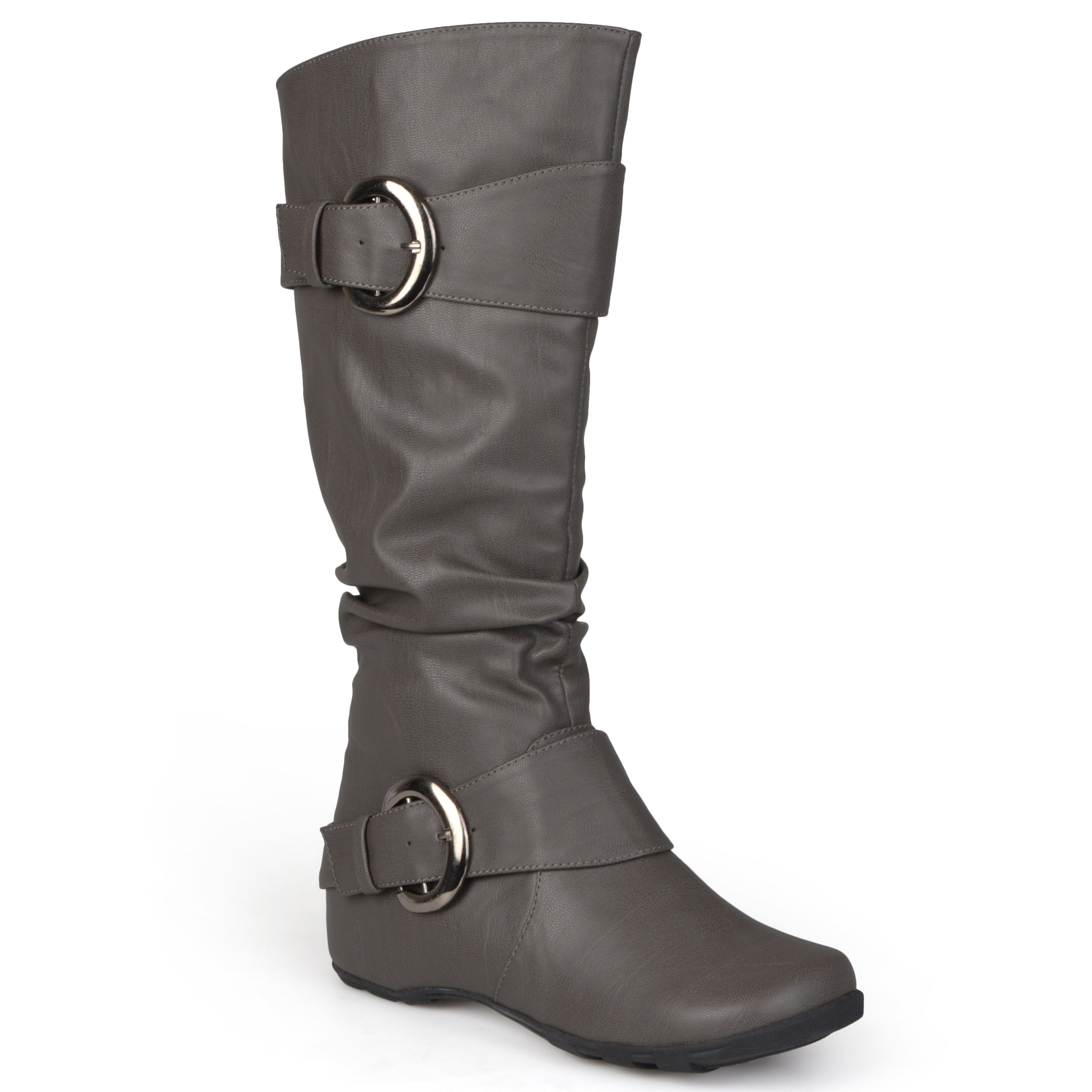 633e34e3cd9 Womens Buckle Knee-High Slouch Boot In Regular and Wide-Calf Sizes