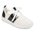 Womens Metallic Fabric Lightweight Breathable Sneakers