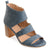 Womens Joyce Side-zip Faux Leather Stacked Heel Open-toe Sandals
