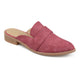 Womens Faux Leather Slip-on Almond Toe Mules