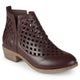 Womens Chunky Heel Caged Cut-out Ankle Booties