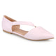 Womens Cross Strap Pointed Toe Flats