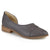 Womens Stacked Wood Heel Almond Toe D'Orsay Flats