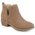 Womens Faux Suede Cut-out Pinhole Round Toe Boots