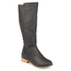 Womens Madds Wide Calf D-ring Strap Distressed Faux Leather Riding Boots