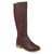 Womens Madds D-ring Strap Distressed Faux Leather Riding Boots