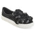 Womens Melor Faux Leather Cascading 3D Flowers Slip-on Sneakers