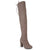 Womens Over-the-knee High Heel Faux Suede Wide Calf Boots