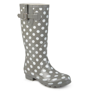 Womens Mizzle Rubber Patterned Rain Boots
