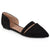 Womens Pointed Toe Faux Suede Flats