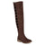 Womens Faux Suede Peek-a-boo Over-the-knee Cut-out Boots
