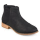 Womens Faux Leather Gore Back Two-tone Booties