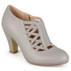 Womens Round Toe High Heel Matte Booties