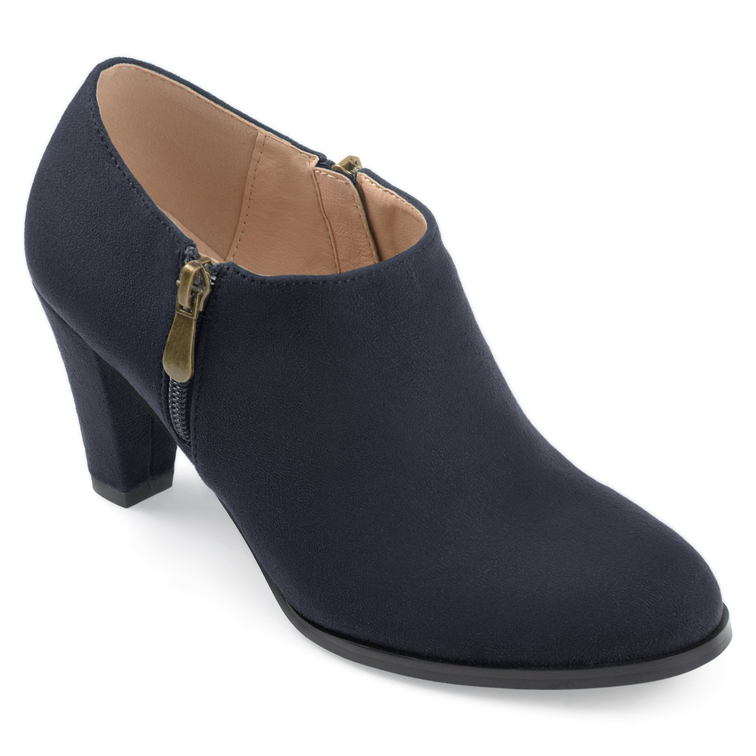 e2c4dee43fab Womens Sadra Faux Suede Low-cut Comfort-sole Ankle Booties