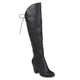 Womens Siro Distressed Faux Leather Faux Lace-up Over-the-knee Boots