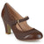 Womens Tweed Two-tone Mary Jane Pumps