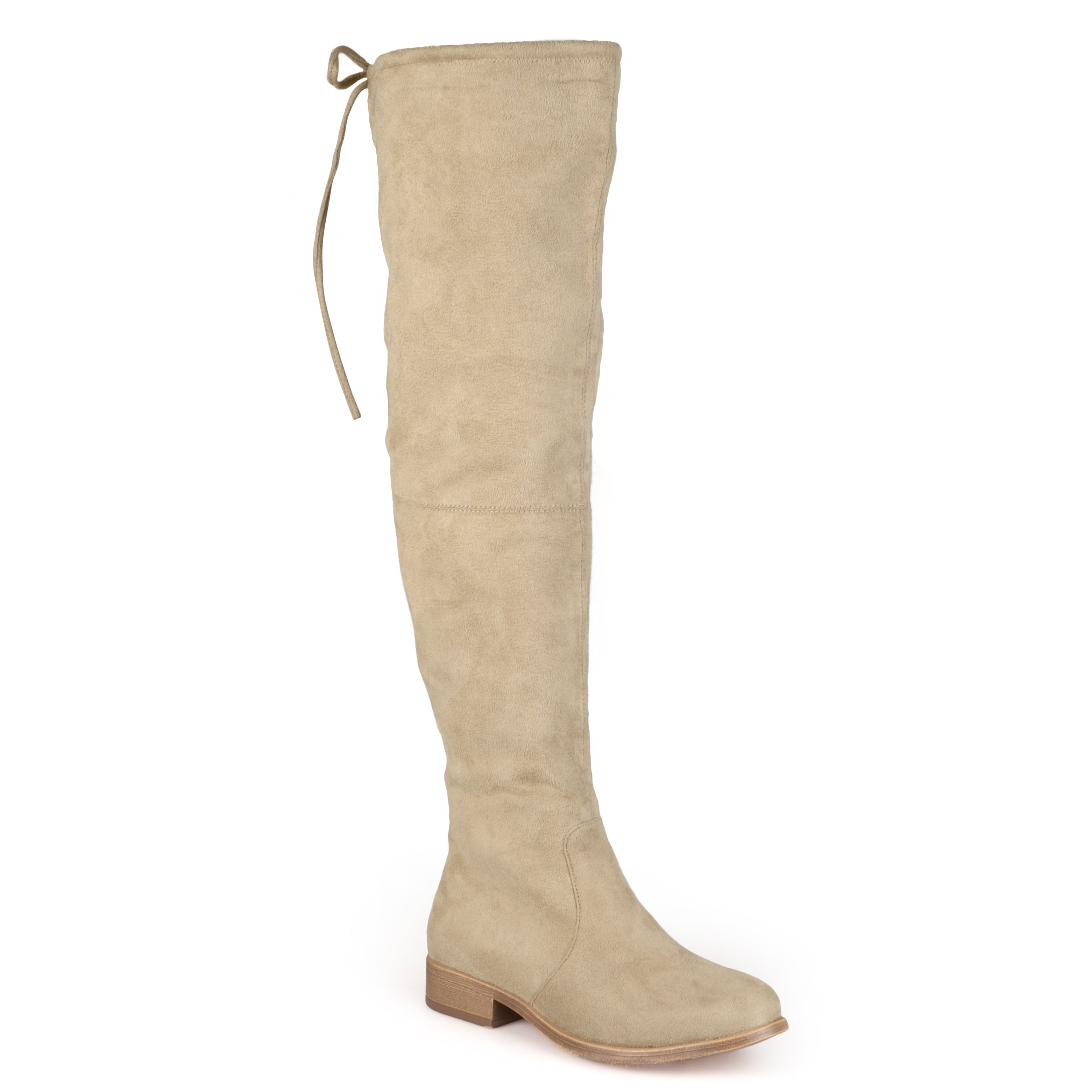 731d9a6eca1 Womens Wide Calf Faux Suede Over-the-knee Boots