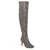 Womens Wide Calf Vintage Almond Toe Over-the-knee Boots