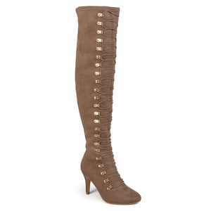 Womens Vintage Almond Toe Over-the-knee Boots