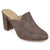 Womens Thirza Block Heel Distressed Loafer Mules
