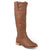 Womens Extra Wide Calf Faux Leather Mid-calf Round Toe Boots