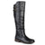 Womens Extra Wide Calf Double-Buckle Knee-High Riding Boot