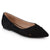Womens Pointed Toe Faux Suede Fashion Flats