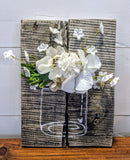 3 Dimensional Flower in Vase Freestanding Sign