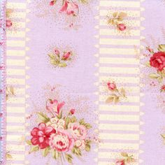 Scarborough Fair cotton fabric by Jennifer Paganelli 0059 Purple