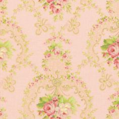 Scarborough Fair cotton fabric by Jennifer Paganelli 0058 Pink