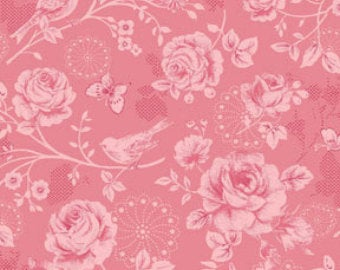 Ellie Ann by Eleanor Burns for Benartex Cotton Fabric Pink Morning Sun 1229-12