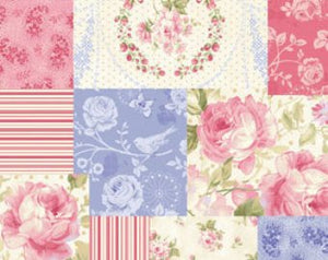 Ellie Ann cotton fabric by Benartex  1230-12 Patchwork of Roses