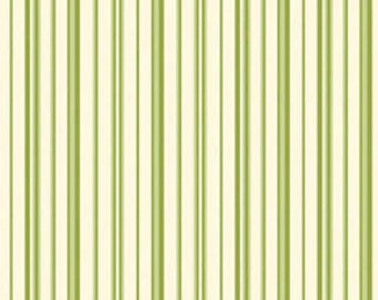 Ellie Ann by Eleanor Burns for Benartex Cotton Fabric Meadow Ann Green Stripe 1231 40